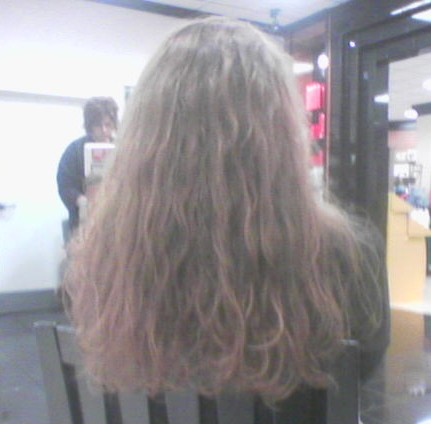 So THAT'S what the back of my hair looked like...