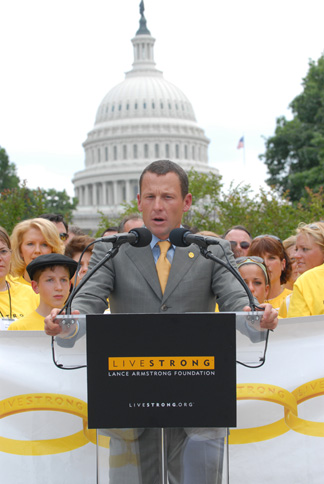 Lance Armstrong on Capitol Hill