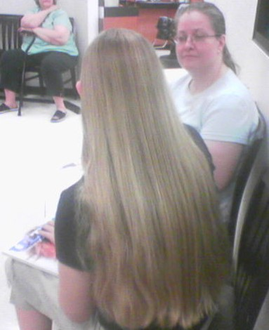 CroppedSweater.jpg long hair long hair cut blond
