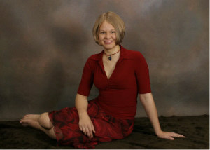 sarahbarefoot.jpg short hair bare foot bare feet girl in red