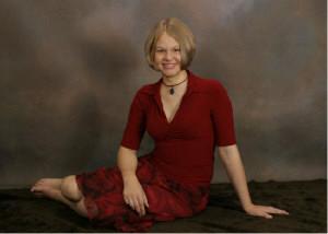 sarahbarefoot.jpg short hair bare foot bare feet girl in red